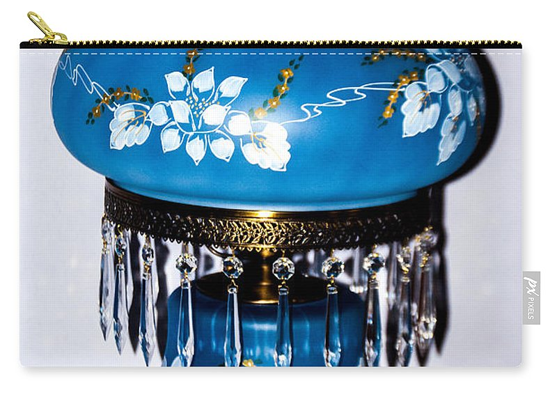 Blue Lamp Carry-all Pouch featuring the photograph Blue Lamp by Jon Cody