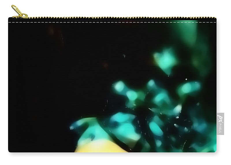 Christmas Lights Carry-all Pouch featuring the photograph Blue Lights by Jessica Shelton