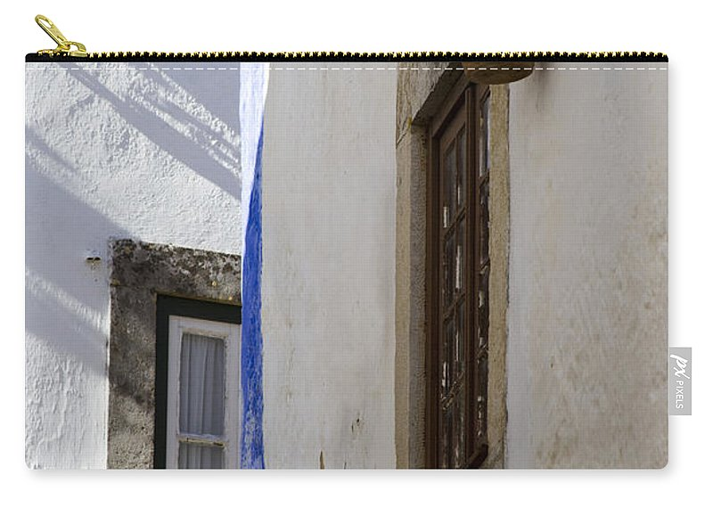 Architecture Carry-all Pouch featuring the photograph Blue Line To The Corner by Heiko Koehrer-Wagner