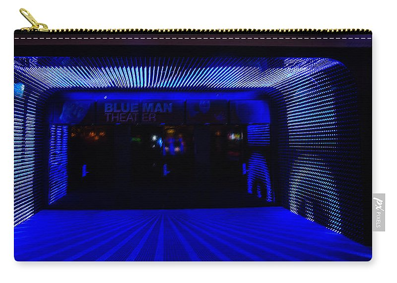 Nevada Carry-all Pouch featuring the photograph Blue Man Group Theater by Angus Hooper Iii