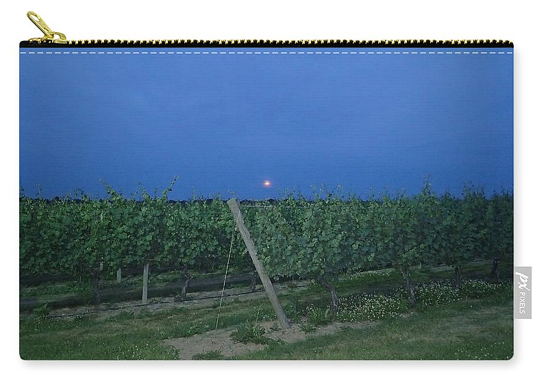Grape Carry-all Pouch featuring the photograph Blue Moon by Robert Nickologianis