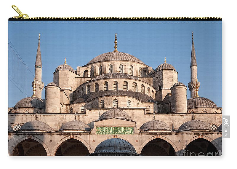 Istanbul Carry-all Pouch featuring the photograph Blue Mosque Domes 01 by Rick Piper Photography