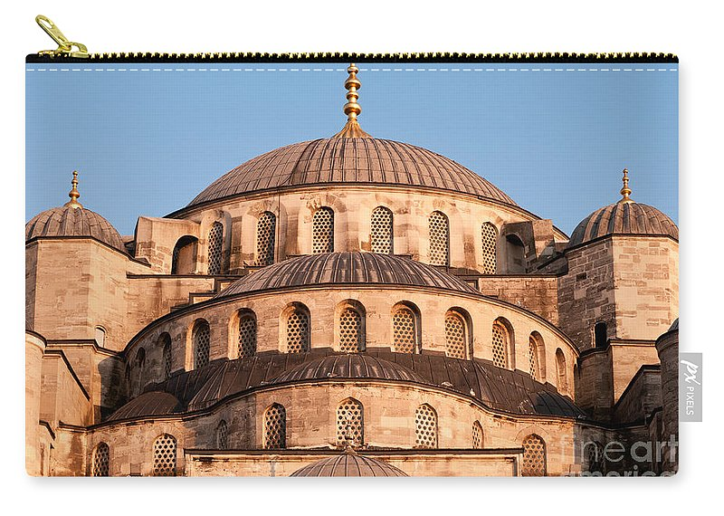 Istanbul Carry-all Pouch featuring the photograph Blue Mosque Domes 03 by Rick Piper Photography