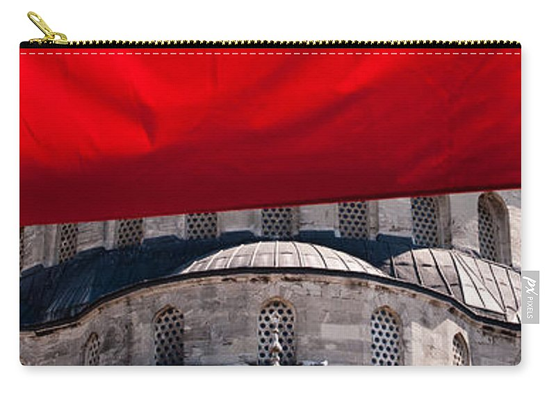 Istanbul Carry-all Pouch featuring the photograph Blue Mosque Domes 04 by Rick Piper Photography