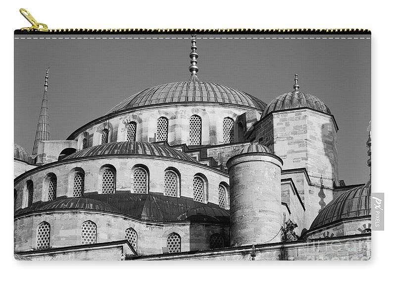 Istanbul Carry-all Pouch featuring the photograph Blue Mosque Domes 06 by Rick Piper Photography