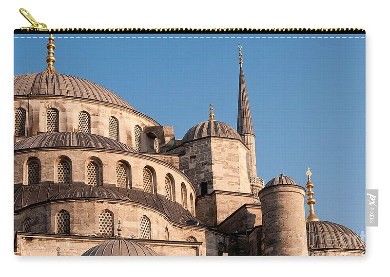 Istanbul Carry-all Pouch featuring the photograph Blue Mosque Domes 08 by Rick Piper Photography