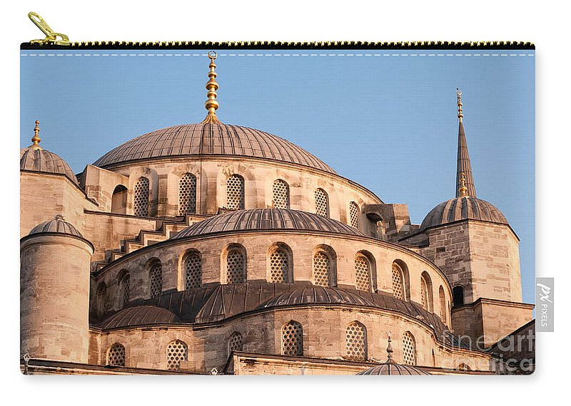 Istanbul Carry-all Pouch featuring the photograph Blue Mosque Domes 09 by Rick Piper Photography