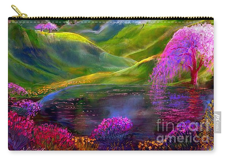 Mountain Carry-all Pouch featuring the painting Blue Mountain Pool by Jane Small