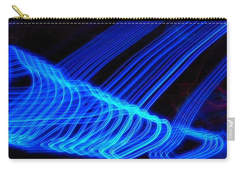 Abstract Carry-all Pouch featuring the photograph Blue Ocean In Peril by James Welch