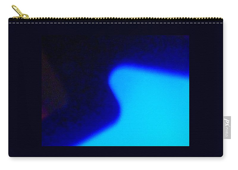 Abstract Carry-all Pouch featuring the photograph Blue On Blue by James Welch
