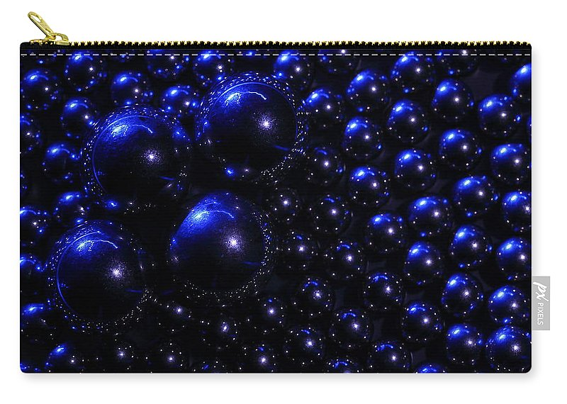 Ball Carry-all Pouch featuring the photograph Blue Orbs by David Andersen