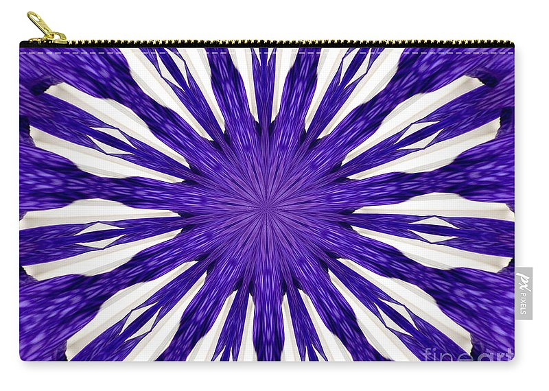 Orchid Carry-all Pouch featuring the photograph Blue Orchid Sunburst Kaleidoscope by Rose Santuci-Sofranko