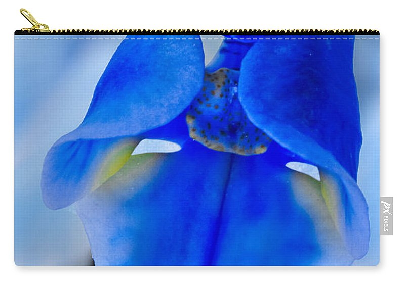 Orchid Carry-all Pouch featuring the photograph Blue Orchid by Susan Candelario