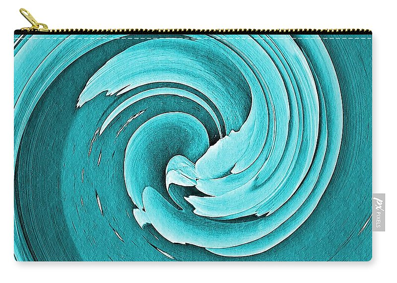 Abstract Carry-all Pouch featuring the photograph Blue Peony by Chris Berry