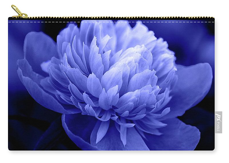 Flowers Carry-all Pouch featuring the photograph Blue Peony by Sandy Keeton