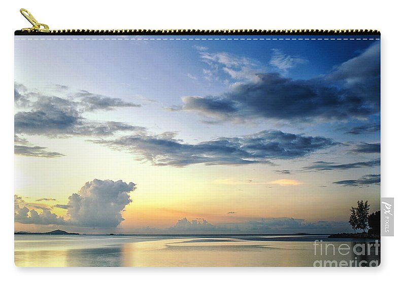 Michelle Meenawong Carry-all Pouch featuring the photograph Blue Relax by Michelle Meenawong