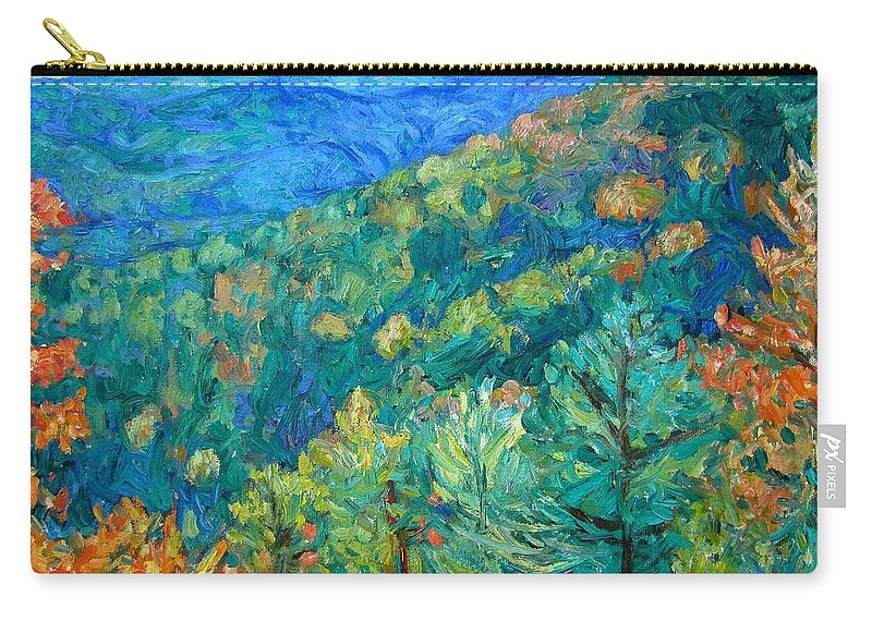 Blue Ridge Mountains Carry-all Pouch featuring the painting Blue Ridge Autumn by Kendall Kessler
