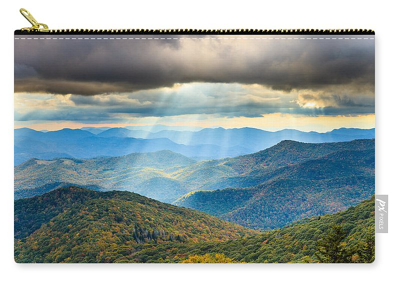 Blue Ridge Mountains Carry-all Pouch featuring the photograph Blue Ridge Glory by Carol VanDyke