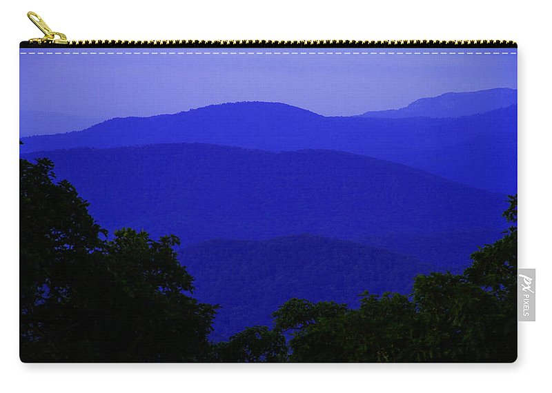 Blue Ridge Carry-all Pouch featuring the photograph Blue Ridge Mountains by Guy Shultz