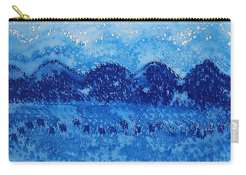 Mountains Carry-all Pouch featuring the painting Blue Ridge Original Painting by Sol Luckman