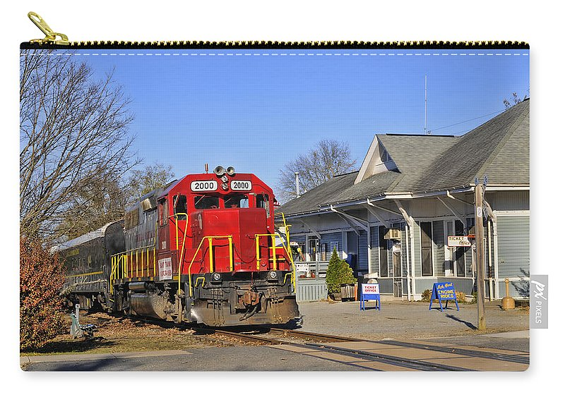 Kenny Francis Carry-all Pouch featuring the photograph Blue Ridge Scenic Railway by Kenny Francis