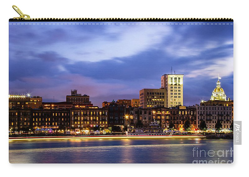 Blue Hour Carry-all Pouch featuring the photograph Blue Savannah by Dawna Moore Photography