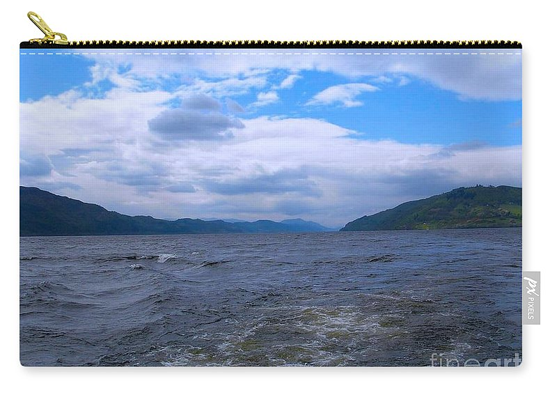 Loch Ness Carry-all Pouch featuring the photograph Blue Skies At Loch Ness by Joan-Violet Stretch