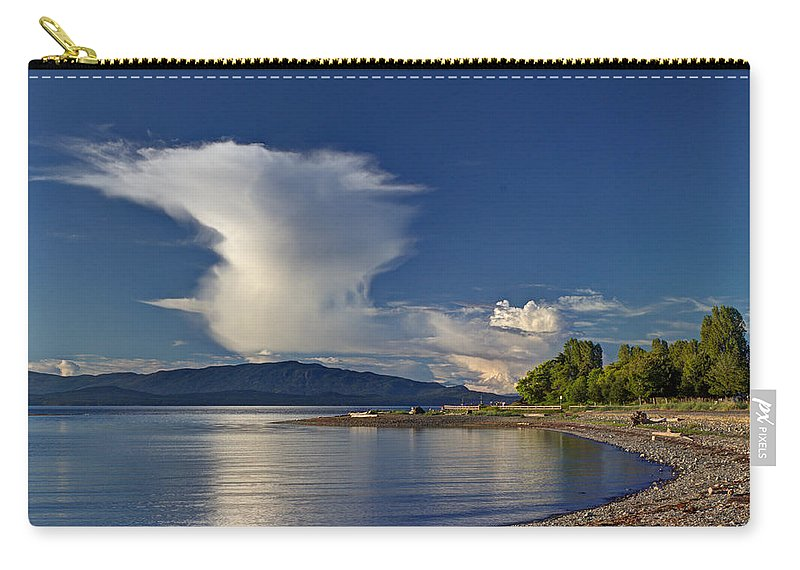 Cloud Carry-all Pouch featuring the photograph Blue Skies by Randy Hall