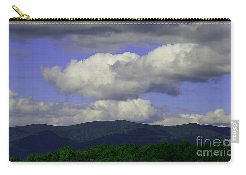 Mountain Landscape Carry-all Pouch featuring the photograph Blue Sky by Neal Eslinger