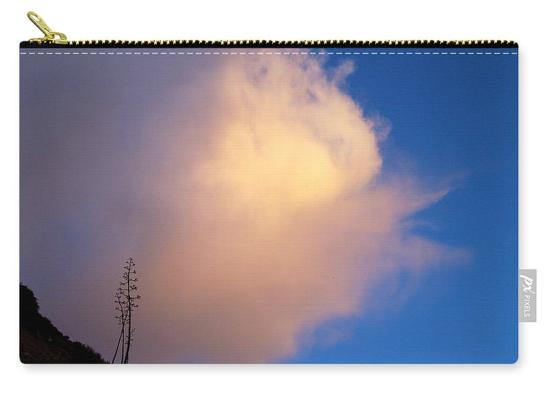 Sky Carry-all Pouch featuring the photograph Blue Sky Sunset And Agave by Joe Schofield