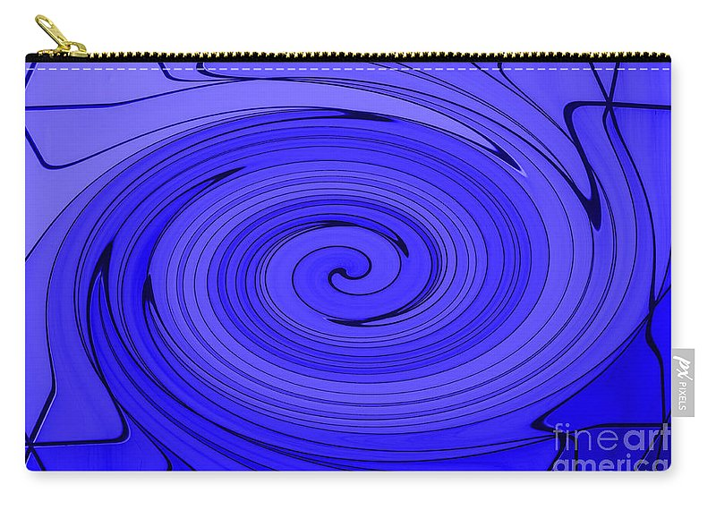 Blue Carry-all Pouch featuring the photograph Blue by Steve Purnell