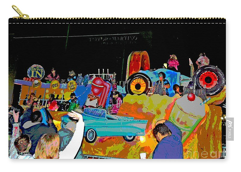 Computer Graphics Carry-all Pouch featuring the photograph Blue Suede Shoes Posterized by Marian Bell