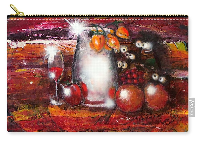 Abstract Carry-all Pouch featuring the painting Blue - The Way I See It by Marcello Cicchini