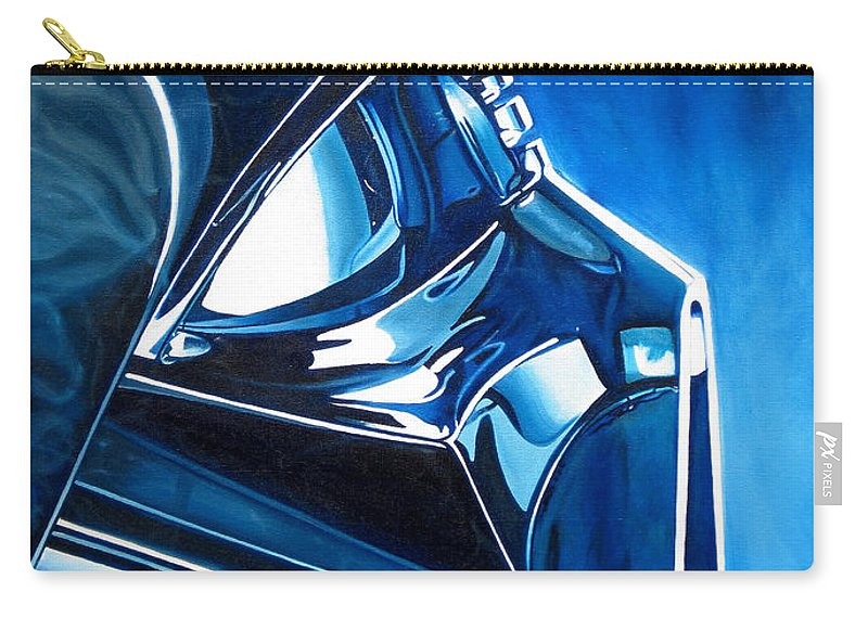 Star Wars Carry-all Pouch featuring the painting Blue Vader by Joshua Morton