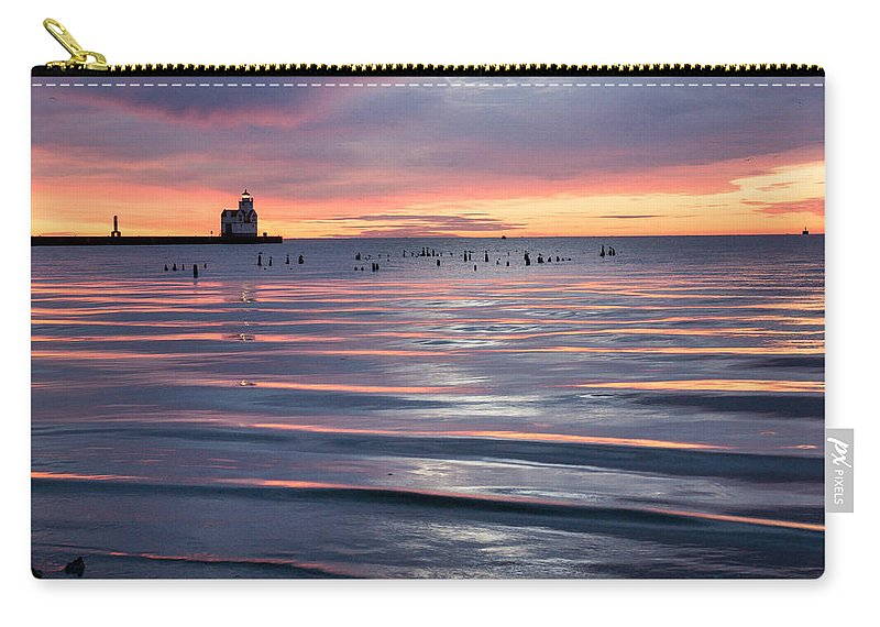 Lighthouse Carry-all Pouch featuring the photograph Blue Velvet by Bill Pevlor