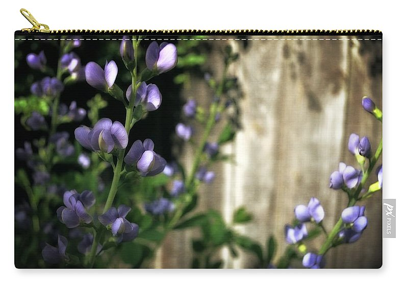 Sturdy Stalk Carry-all Pouch featuring the photograph Blue Wild Indigo - Baptisia Australis by Michelle Calkins