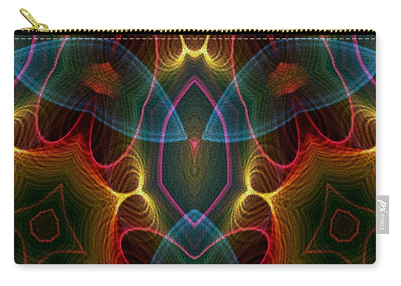 Series Echo Carry-all Pouch featuring the digital art Blue Wings by Owlspook