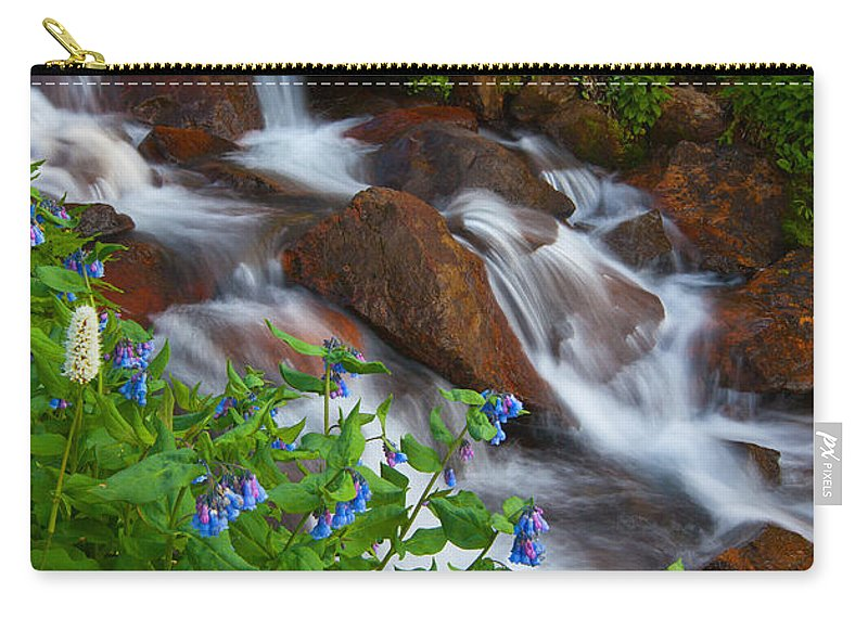 Stream Carry-all Pouch featuring the photograph Bluebell Creek by Darren White