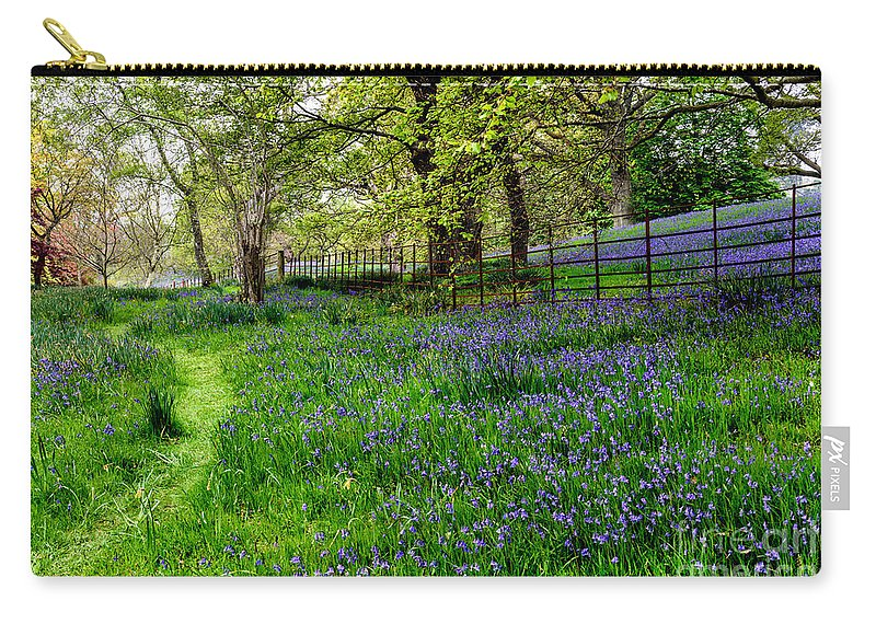 Blue Carry-all Pouch featuring the photograph Bluebell Way by Adrian Evans