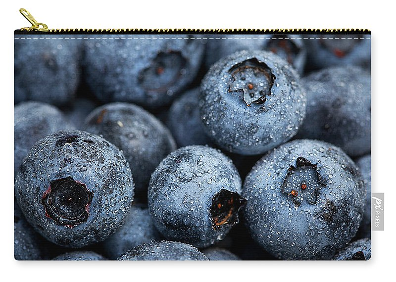 Surrey Carry-all Pouch featuring the photograph Blueberries Fruits by Kevin Van Der Leek Photography