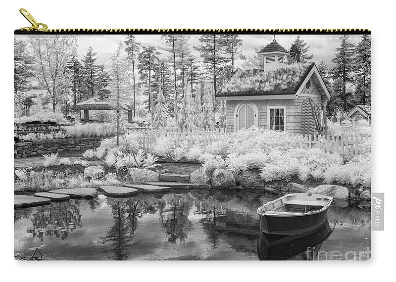 Rowboat Carry-all Pouch featuring the photograph Blueberry Pond by Claudia Kuhn