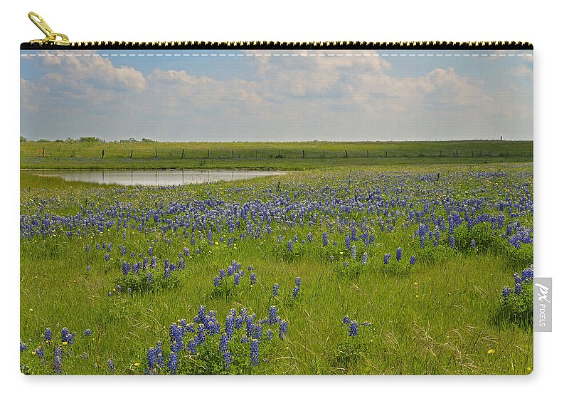 Water Carry-all Pouch featuring the photograph Bluebonnet Bliss by Lynn Bauer