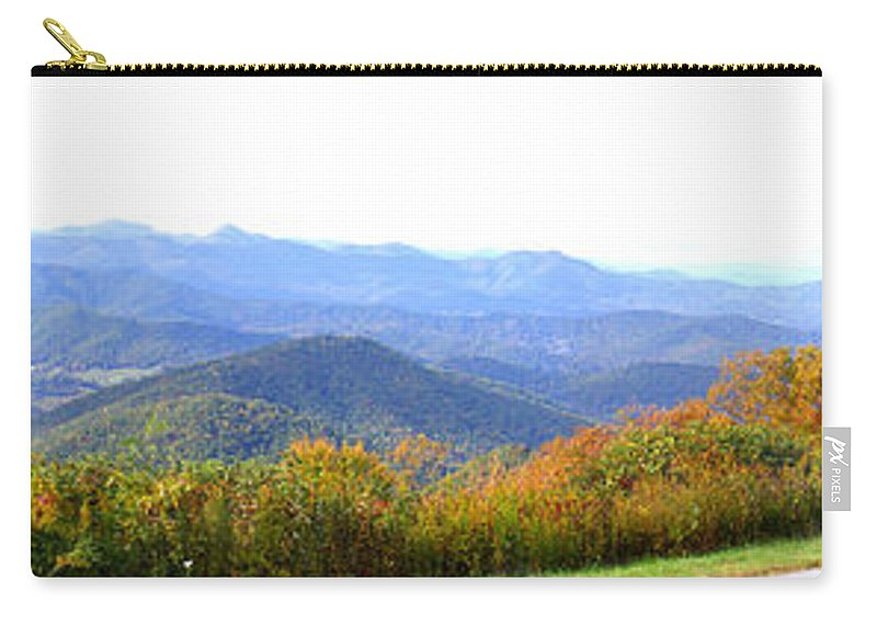 Landscapes. Printscapes Carry-all Pouch featuring the photograph Blueridge Parkway Mm404 by Duane McCullough