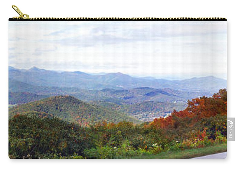 Landscapes. Printscapes Carry-all Pouch featuring the photograph Blueridge Parkway View 2 At Mm 404 by Duane McCullough