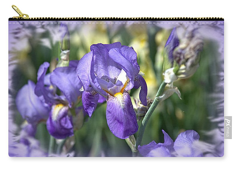 Flower. Floral Carry-all Pouch featuring the photograph Blues by Bonfire Photography