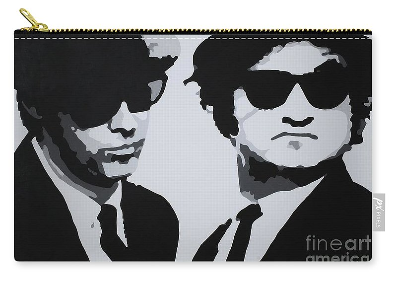 Blues Brothers Carry-all Pouch featuring the painting Blues Brothers by Katharina Filus