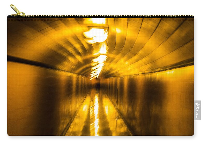 Nevada Carry-all Pouch featuring the photograph Blur Tunnel by Angus Hooper Iii