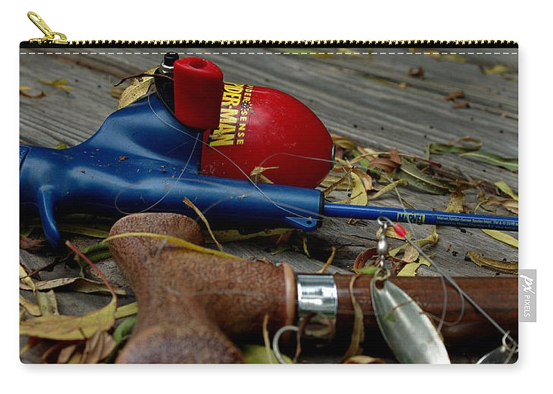 Angling Carry-all Pouch featuring the photograph Blured Memories 01 by Peter Piatt