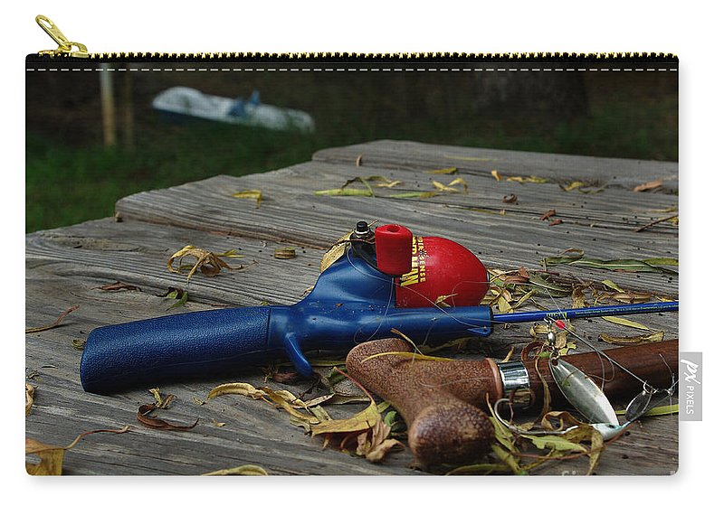 Angling Carry-all Pouch featuring the photograph Blured Memories 02 by Peter Piatt