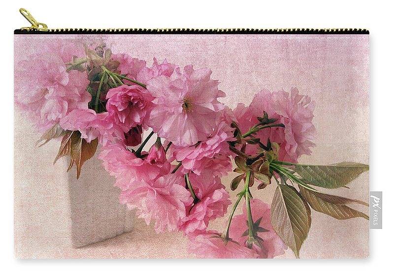 Flowers Carry-all Pouch featuring the photograph Cherry Blossom Still Life by Jessica Jenney